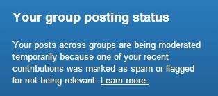 Posting Status