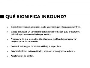 Qué significa Inbound Marketing