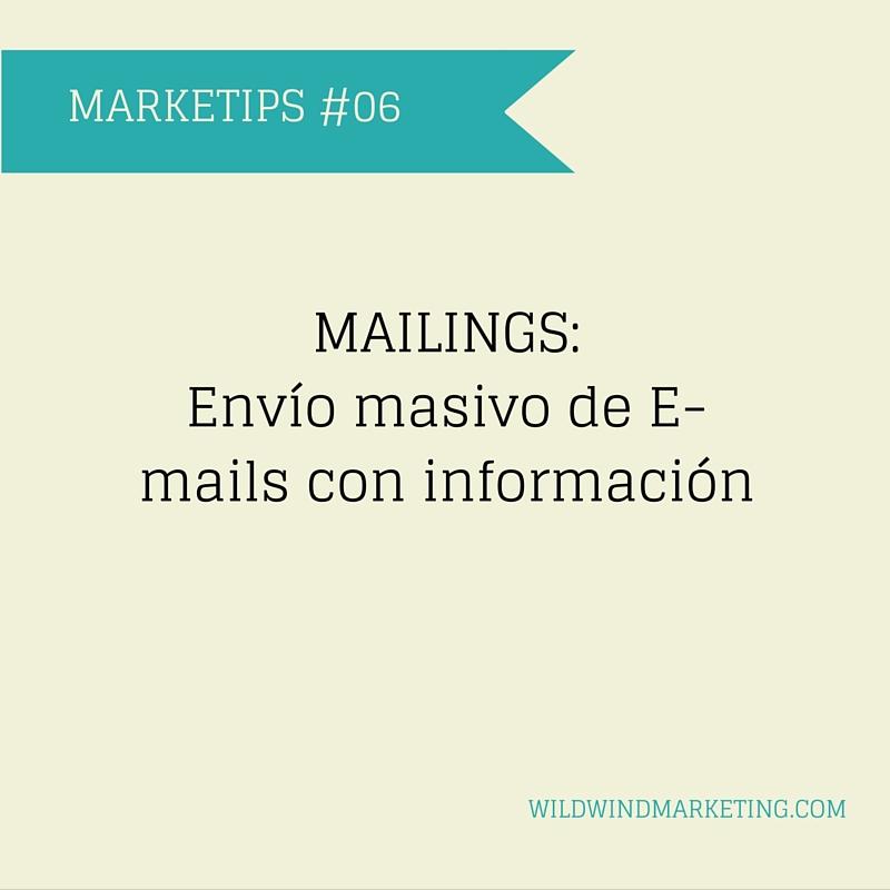 para qué sirven los mailings